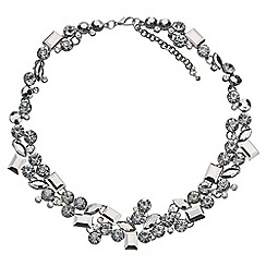 Phase Eight - Pewter cleo crystal statement necklace