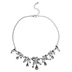 Phase Eight - Silver helena crystal droplets necklace