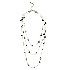 Phase Eight - Pewter leona sparkle bead necklace