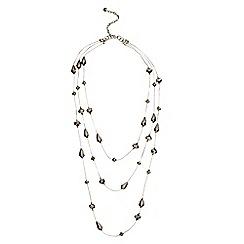 Phase Eight - Pewter leona sparkle bead necklace