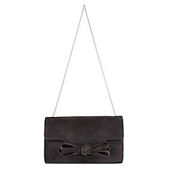 Phase Eight - Elena Suede Bow Clutch Bag