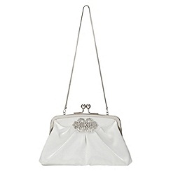 Phase Eight - Jewel Trim Satin Clutch Bag