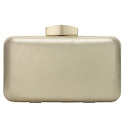 Phase Eight - Champagne Annie Suede Box Clutch Bag