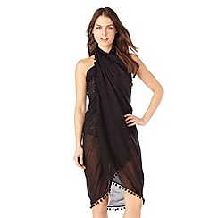 Phase Eight - Black pom pom sarong