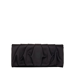 Phase Eight - Black aria satin clutch bag