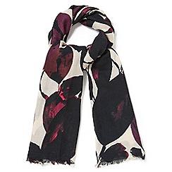 Phase Eight - Leaf wool blend scarf
