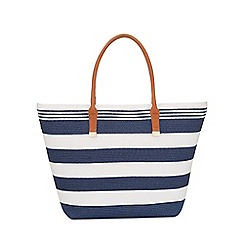 Phase Eight - Stripe Straw Bag
