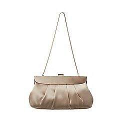 Phase Eight - Brown Cara Satin Clutch Bag