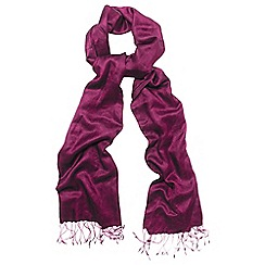 Phase Eight - Purple diamond weave pashmina