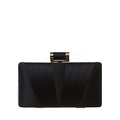 Phase Eight - Navy Annie Satin Box Clutch