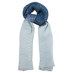 Phase Eight - Navy pleated ombre scarf