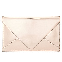 Phase Eight - Metallic Leather Envelope Clutch