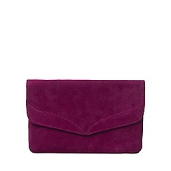 Phase Eight - Garnet caitlin suede clutch