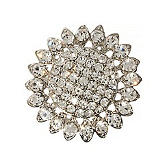 Phase Eight - Silver Lola Crystal Brooch
