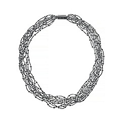 Phase Eight - Silver dafne multi row necklace