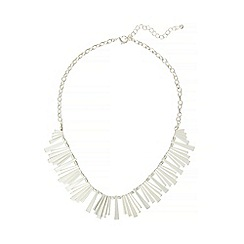Phase Eight - Silver lizzie fan necklace