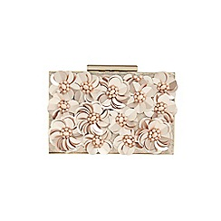 Phase Eight - Blush flora box clutch bag