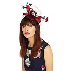 Phase Eight - Red and black Julia fascinator