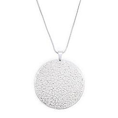 Phase Eight - Silver ebony filigree pendant necklace