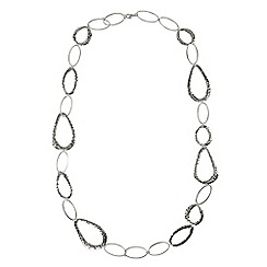 Phase Eight - Silver amber necklace