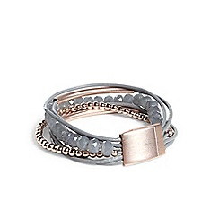 Phase Eight - Grey bessie multi row bracelet