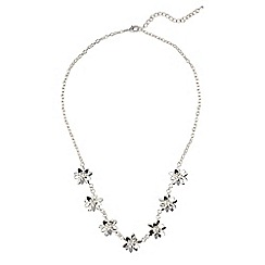 Phase Eight - Silver carey floral necklace