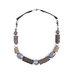 Phase Eight - Grey ruth beaded necklace