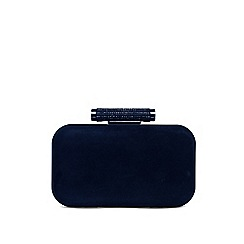 Phase Eight - Navy sasha suede sparkle clutch