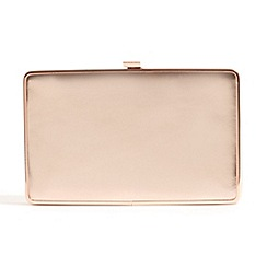 Phase Eight - Rose Gold mollie metallic clutch bag