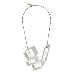 Phase Eight - Clear sophie acrylic geo shape necklace