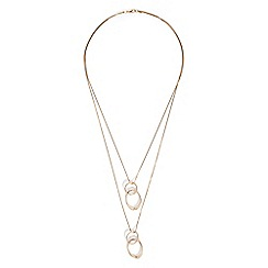 Phase Eight - Gold tiffany double ring long necklace