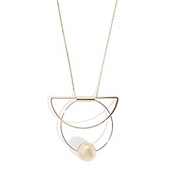 Phase Eight - Gold Claudia long geo necklace