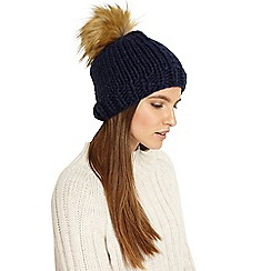 Phase Eight - Ella cable knit pom pom hat