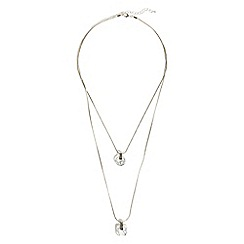 Phase Eight - Silver zadie 2 row necklace