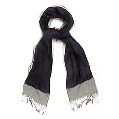 Phase Eight - Blue silk blend pashmina scarf