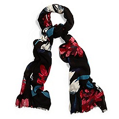 Phase Eight - Black edie painted floral scarf