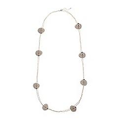 Phase Eight - Metallic harmony filigree leaf necklace
