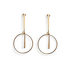 Phase Eight - Metallic Isla ring drop earrings