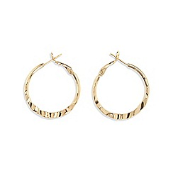 Phase Eight - Metallic Jenny hammered finish hoop earrings