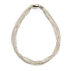 Phase Eight - Metallic 'Posy' cupchain multi row necklace