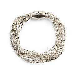 Phase Eight - Metallic 'Posy' cupchain multi row bracelet