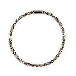 Phase Eight - Pewter rosalie stone round necklace
