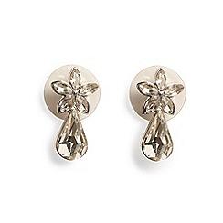 Phase Eight - Silver rana crystal teardrop stud earrings