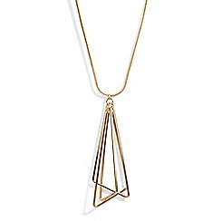 Phase Eight - Metallic cindy triangle link necklace