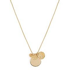 Phase Eight - Metallic dahlia charm long necklace
