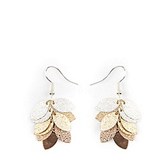 Phase Eight - Ella leaf jumble textured drop earrings