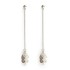 Phase Eight - Metallic fern filagree jumble drop earrings