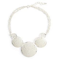 Phase Eight - Metallic amandine filagree disc necklace