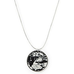 Phase Eight - Metallic Dory marbled disc long necklace