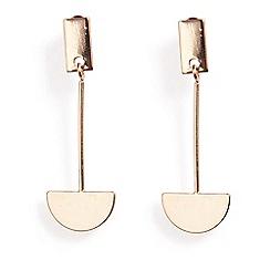 Phase Eight - Natural felicia long geo drop earrings